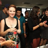 Actress Sarah Drew, Actor Booboo Stewart and Fivel Stewart