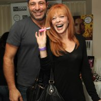 Actress Frances Fisher and Nuworld Botanicals Johnny Cascella