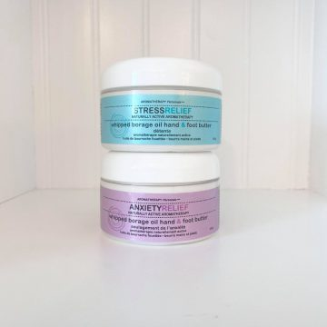 Aromatherapy Personals™ Anxiety Relief & Stress Relief Whipped Borage Oil Hand & Foot Butter- Duo Set