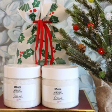 2pc Coconut Mineral Body Scrub Holiday Gift Set