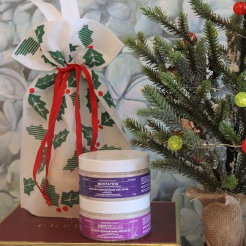 2pc Aromatherapy Personals™ Mineral Salt Scrub Holiday Gift Set (Anxiety Relief & Meditation)