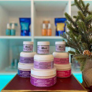 3pc Aromatherapy Body and Lip Scrub Holiday Gift Set